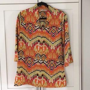 Natori Multicolor Print Tunic Size S